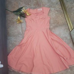 MUXXN (UK) Coral Swing Dress size Large